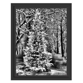 image-Bright Christmas Tree Framed Art Print East Urban Home Size: 38cm H x 30cm W