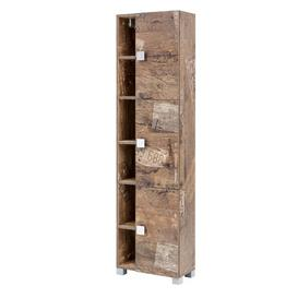 image-Ataie 45 x 168cm Free-Standing Tall Bathroom Cabinet Ebern Designs Colour: Brown