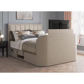 image-Osaka Ottoman TV Bed 4'6 Double BEIGE
