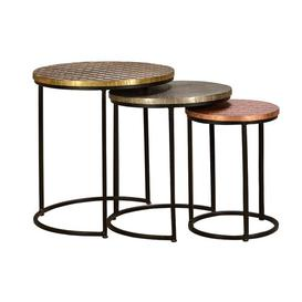 image-Massillon 3 Piece Nest of Tables Bloomsbury Market