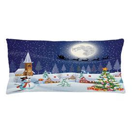 image-Ejvind Christmas Winter Landscape Outdoor Cushion Cover Ebern Designs Size: 40cm H x 90cm W