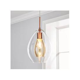 image-Eden Pendant Ceiling Fitting Copper Clear