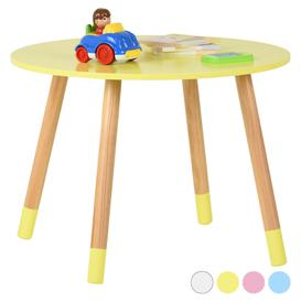image-Hartleys Kids Wooden Table - Yellow
