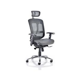 image-Lydock Mesh Executive Chair In Black With Headrest