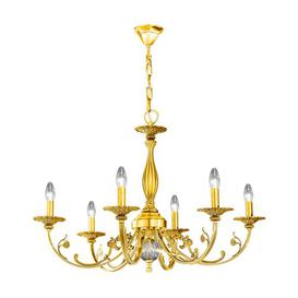 image-Pisani 6 Light Candle Chandelier Kolarz Finish: Gold