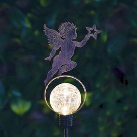 image-Bright Garden Solar Stake Light - Cherub With Star