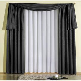 image-Longoria Tab top Room Darkening Single Curtain Mercury Row Size: 245cm L x 135cm W, Colour: Black