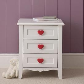 image-Princess 3 Drawer Bedside Table The Children's Furniture Company
