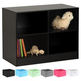 image-Hartleys Black 4 Cube Kids Storage Unit