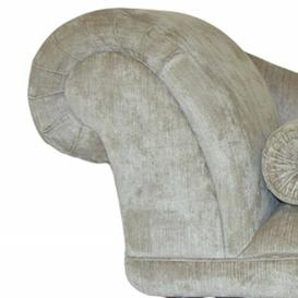 image-Loretta Chaise Longue Fairmont Park Upholstery: Bacio Lavender, Leg Finish: Cream, Orientation: Left-Hand Chaise