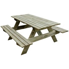 image-Forest Garden Rectangular 4 Person Picnic Table