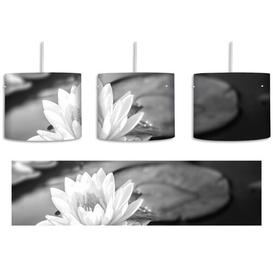 image-Beautiful Lotus in a Pond 1-Light Drum Pendant East Urban Home