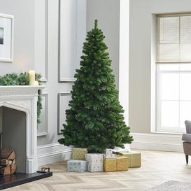 image-Balsam Green Fir Artificial Christmas Tree with Stand Three Posts