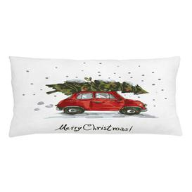 image-Elevus Christmas Car with Tree Outdoor Cushion Cover Ebern Designs Size: 40cm H x 90cm W