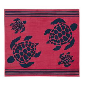 image-Tropical Turtle Beach Towel Delindo Lifestyle Colour: Red/Pink