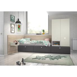 image-Stanley 3 Piece Bedroom Set Isabelle & Max Colour: Grey/Light Green
