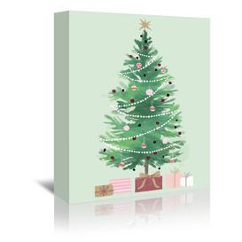 image-'Christmas Tree' by Kathryn Selbert - Graphic Art Print East Urban Home Format: Canvas, Size: 36cm H x 28cm W x 3cm D
