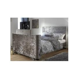 image-Milan Bed Company Newark 5FT Kingsize TV Bed,Crushed Velvet