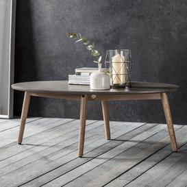 image-Large oval coffee table