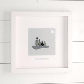 image-Family is a Gift That Lasts Forever 2 Adult 2 Child Framed Wall Art in Grey House of Hampton