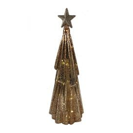image-A by AMARA Christmas - Crackle Effect Lit Tree - Rose Gold