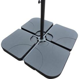 image-Water Fillable Cross Stand Cantilever Parasol Base Black
