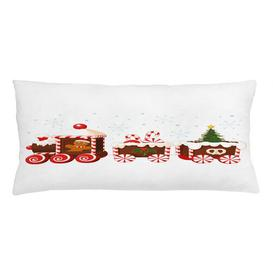 image-Reem Christmas Gingerbread Train Outdoor Cushion Cover Ebern Designs