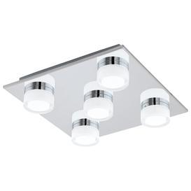 image-Eglo 96544 Romendo 1 Four Light Dimmable Bathroom Flush Ceiling Light In Chrome