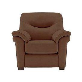 image-G Plan - Washington Leather Armchair with feet - Brown