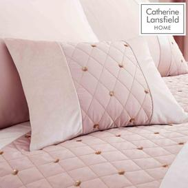 image-Catherine Lansfield Sequin Cluster Cushion Blush