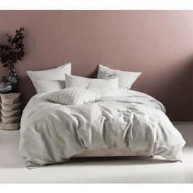 image-Pure Linen Pale Grey Bed Linen Set