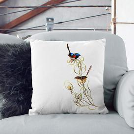 image-Graceful Wrens by Elizabeth Gould Cushion with Filling