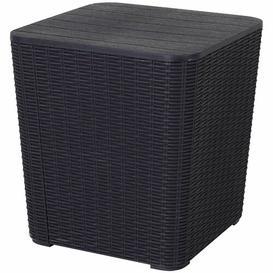 image-Krokowski Side Table with Storage Dakota Fields Colour: Black