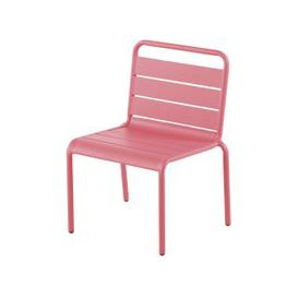 image-Children's Pink Metal Chair Fun Summer