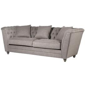 image-Grey Fabric 3 seater Buttoned Back sofa