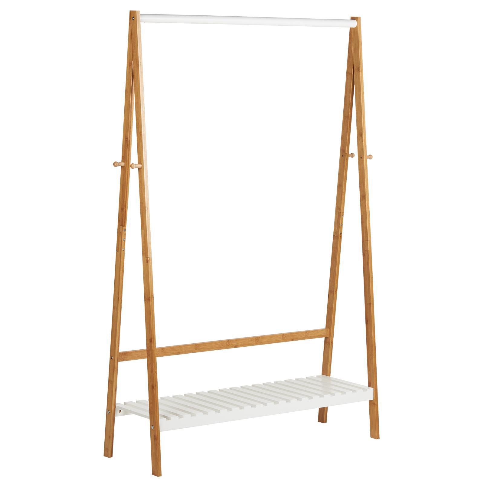 image-Hartleys White & Bamboo Clothes Rail
