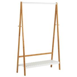 image-Hartleys White & Bamboo Clothes Rail