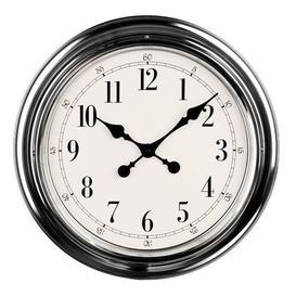 image-51cm Wall Clock All Home Finish: Chrome