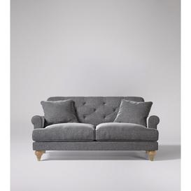 image-Swoon Sidbury Two-Seater Sofa in Pepper Smart Wool With Short Light Feet