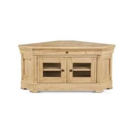 image-Moreno Solid Oak Corner TV Unit - 553