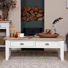 image-Tetbury Painted Oak Large Coffee Table
