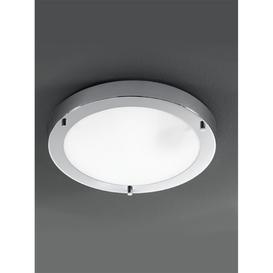 image-C5681 1 Light Chrome &amp Glass Flush Bathroom Ceiling Light