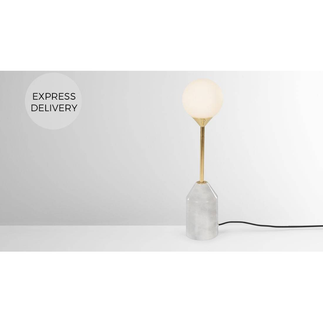 image-Faye Table Lamp, Brass and Marble