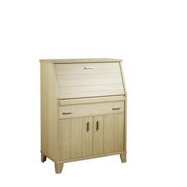 image-Mendelson R├╝gen Secretary Desk Ebern Designs Colour: Oak Natural