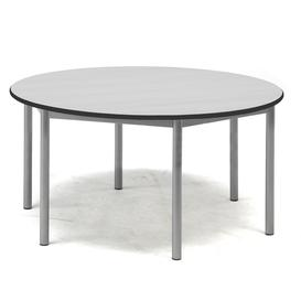 image-Desk SONITUS, round, ├ÿ 1200x600 mm, grey laminate, alu grey