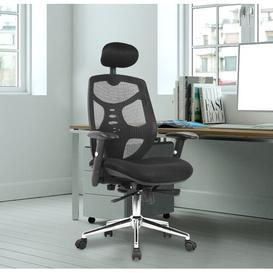 image-High-Back Ergonomic Mesh Executive Chair Symple Stuff Colour (Upholstery/Frame): Black/Black