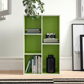 image-Salmeron Cube Unit Bookcase Zipcode Design Colour: White/Green