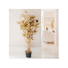 image-Gold Faux Lady Palm Plant