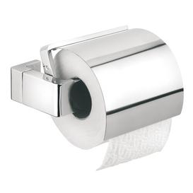image-Ontario Wall Mounted Toilet Roll Holder with Lid