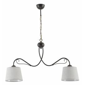 image-Centerville 2-Light Shaded Chandelier ClassicLiving Finish: Wenge, Shade Colour: Grey